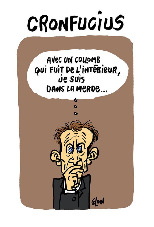 dessin d'actualité humoristique sur la démission de Gérard Collomb