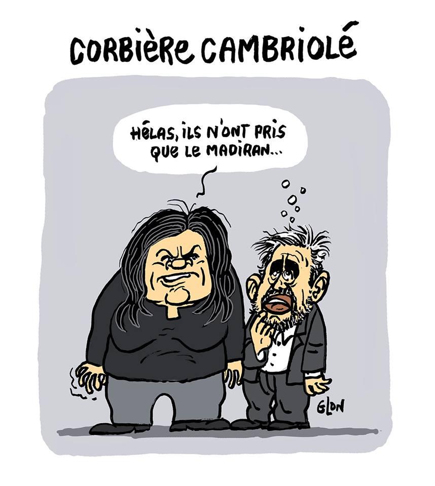 dessin d'actualité humoristique sur le cambriolage chez Alexis Corbière