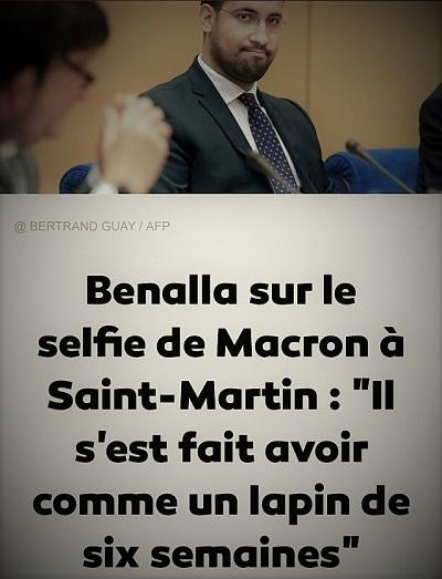 actualité d'Alexandre Benalla parlant d'Emmanuel Macron