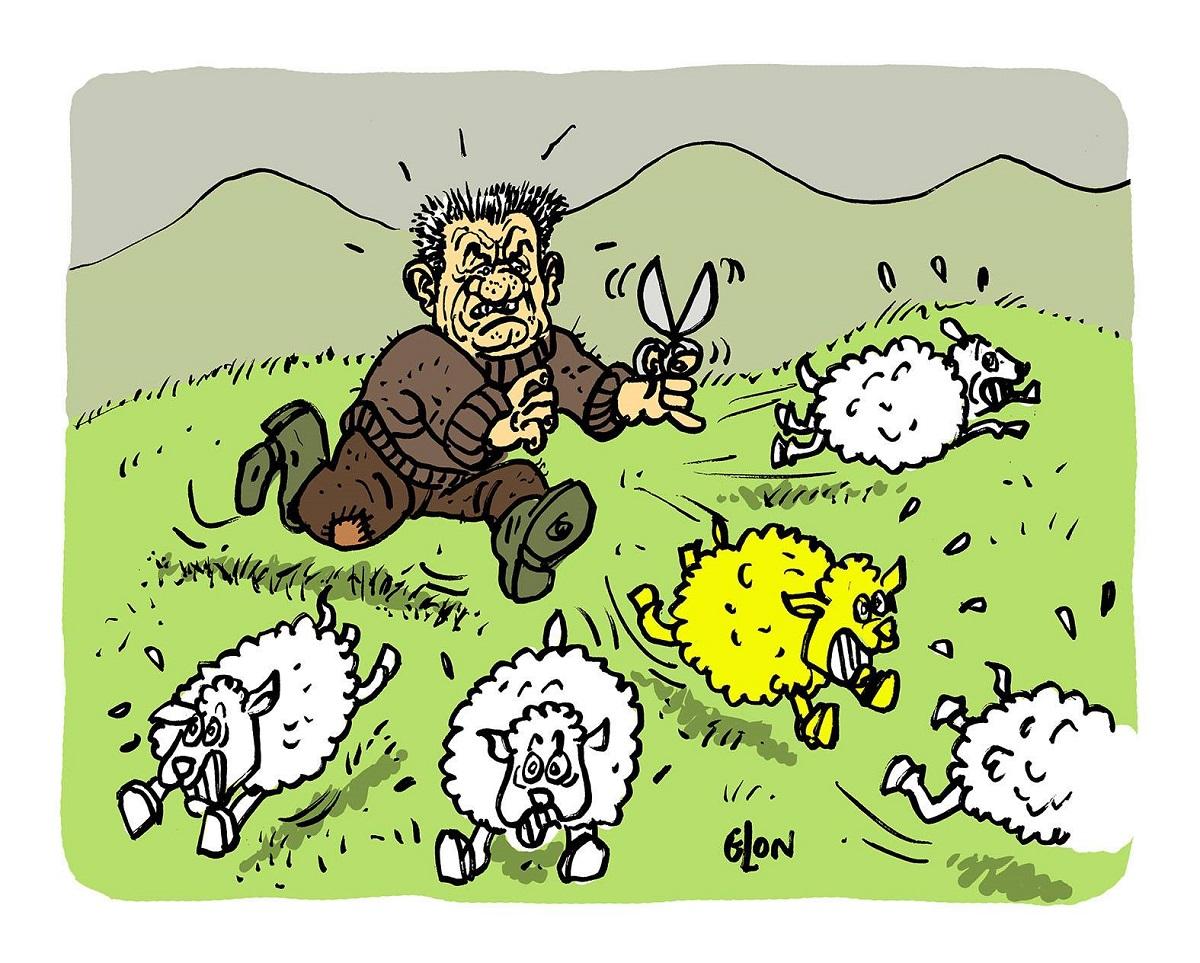 dessin d'actualité humoristique sur Jean Lassalle et les gilets jaunes