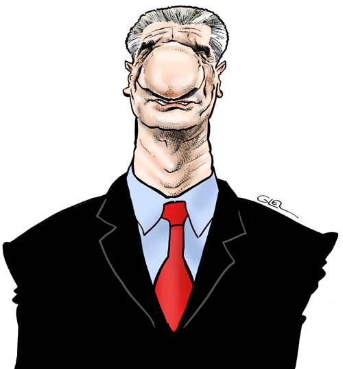 Caricature portrait de Jean Lassalle