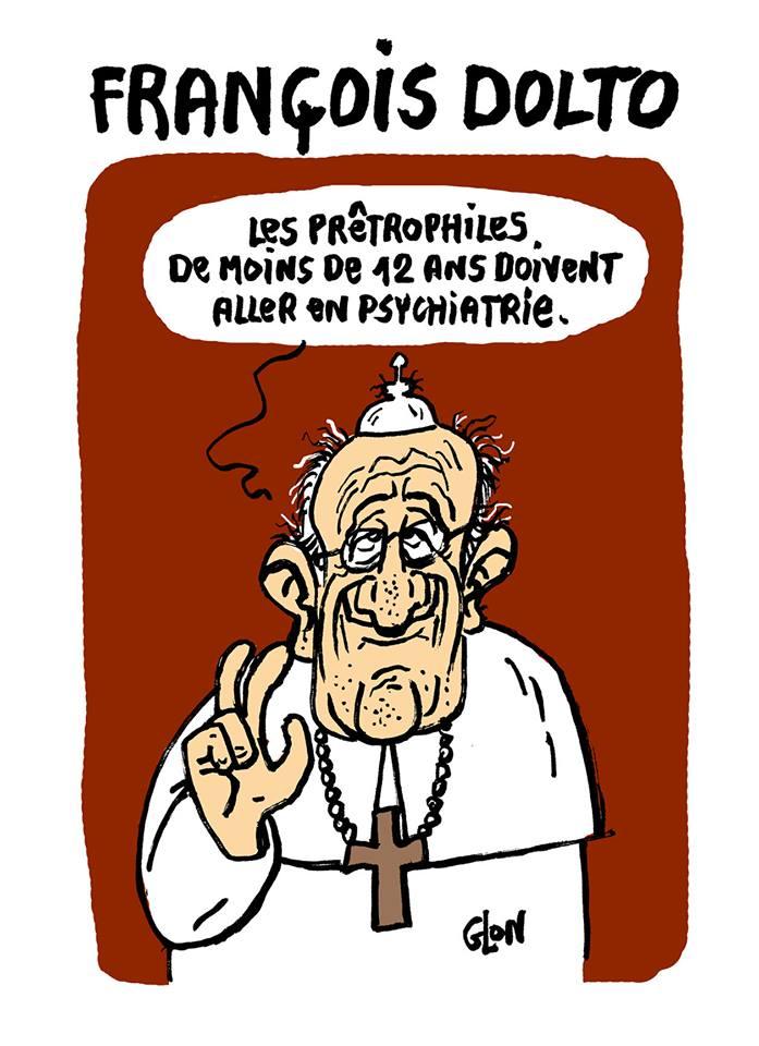 dessin d'actualité humoristique sur les problèmes de pédophilie dans l'église