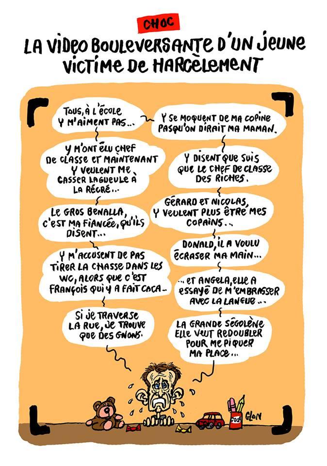 dessin d'actualité humoristique sur la baisse de popularité d'Emmanuel Macron