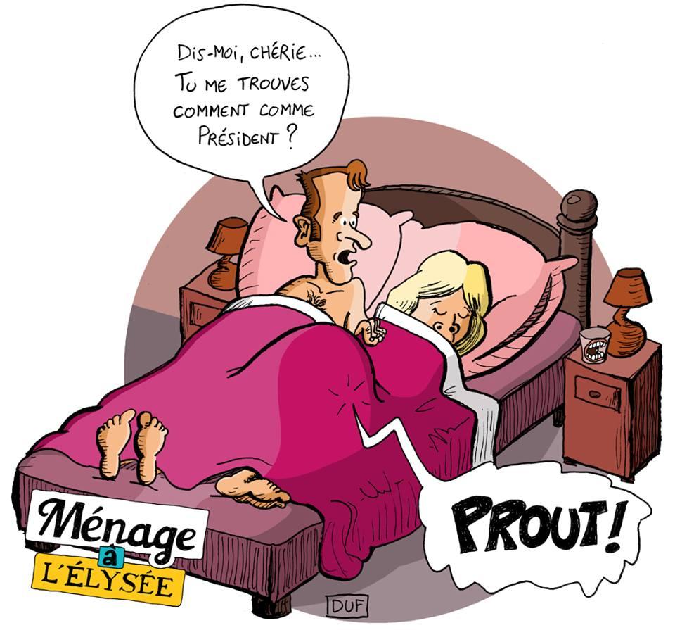 dessin d'actualité humoristique sur le couple présidentiel