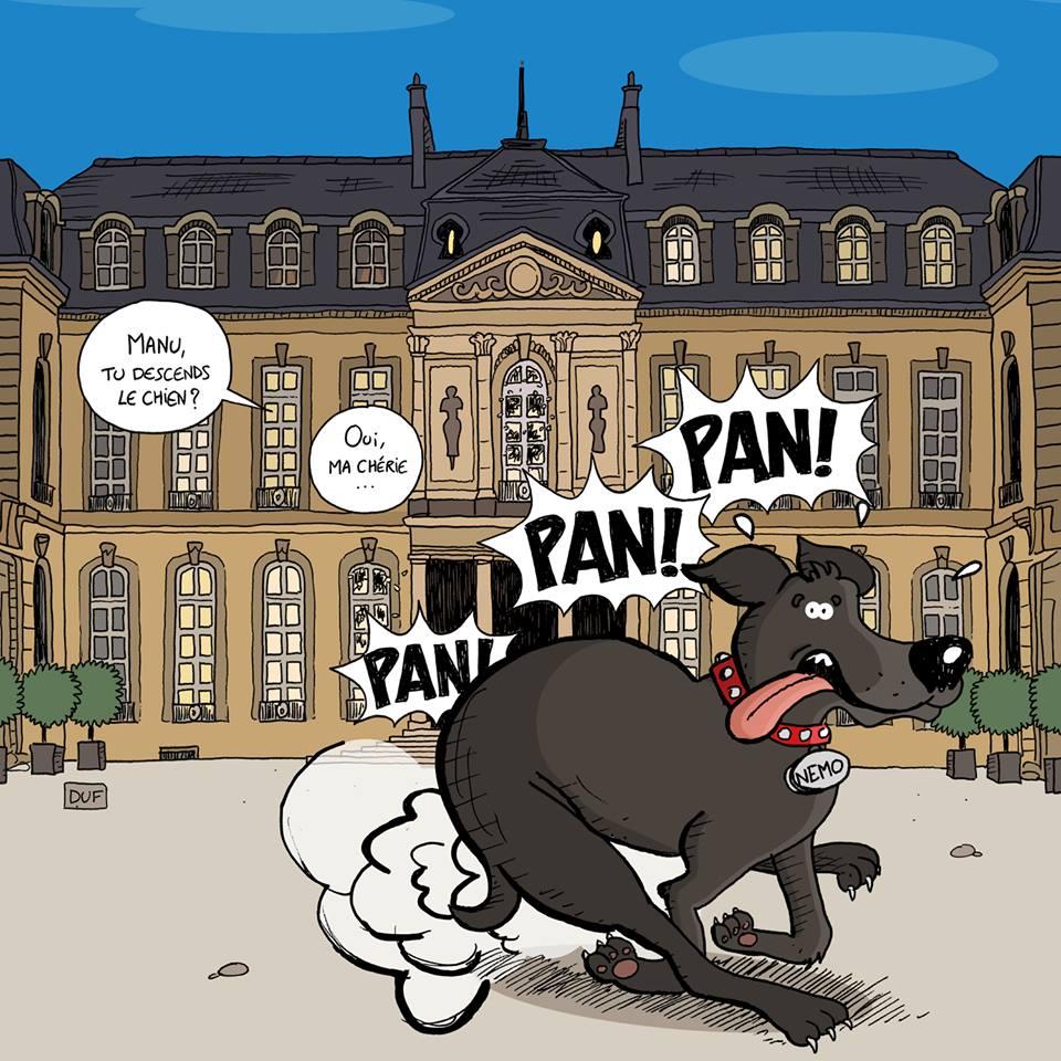 dessin d'actualité humoristique sur la capacité d'Emmanuel Macron à entendre ce qui est demandé par les français