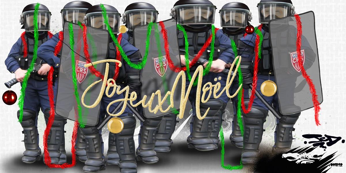dessin d'actualité humoristique d'un nouvel sous État policier