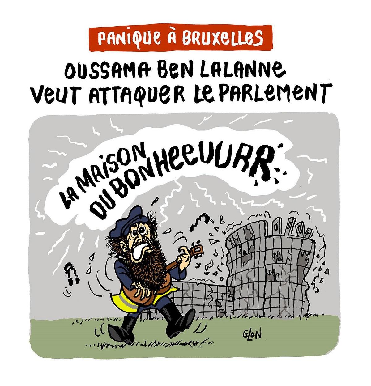 dessin d'actualité humoristique sur francis Lalanne qui veut se présenter aux élections européennes