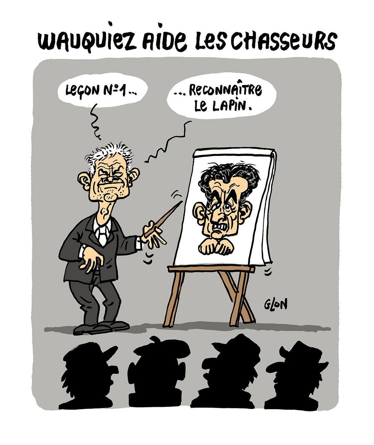 dessin d'actualité drôle sur Laurent Wauquiez et Nicolas Sarkozy