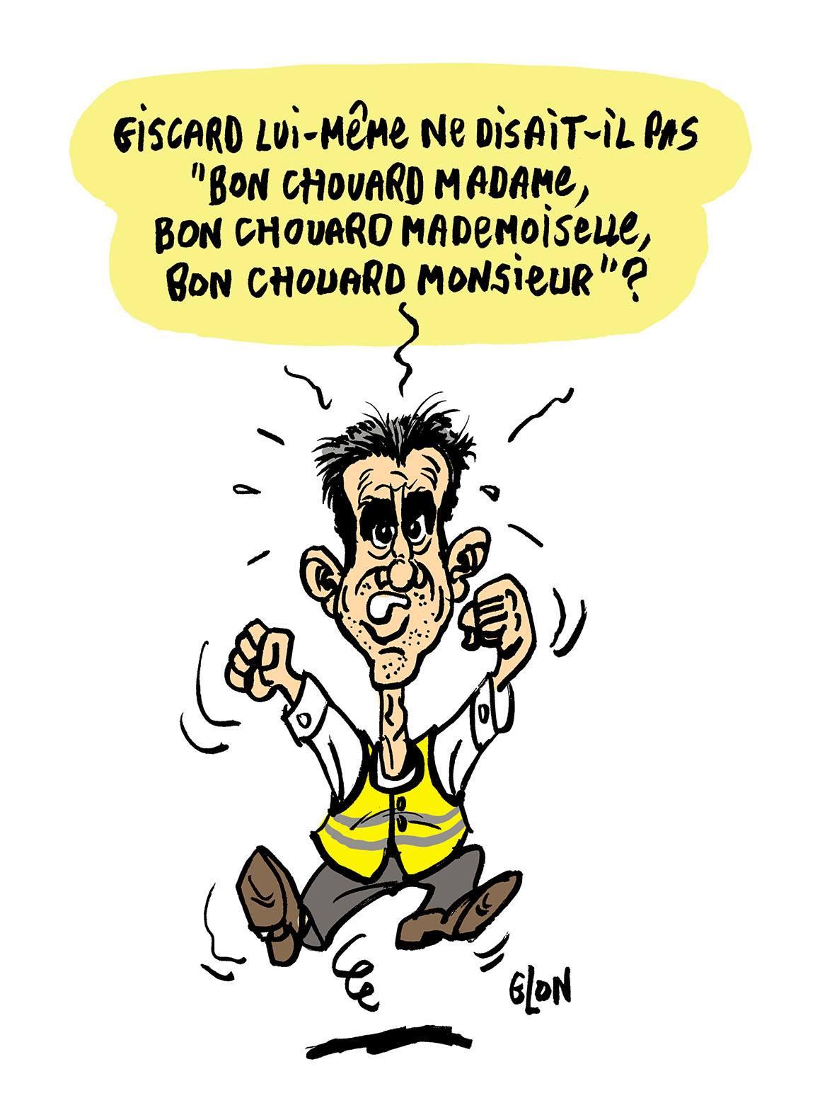 dessin d'actualité humoristique sur François Ruffin et Étienne Chouard