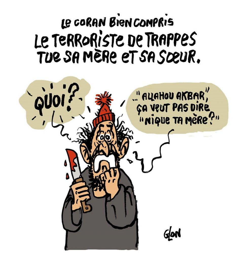dessin d'actualité humoristique sur le terroriste de Trappes