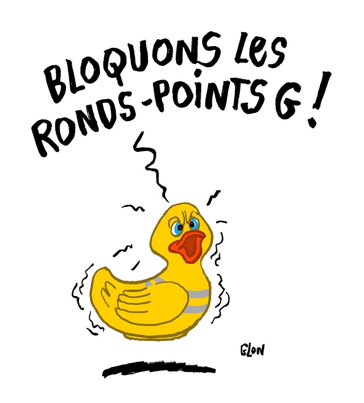 dessin d'actualité humoristique sur la colère de la France d'en bas