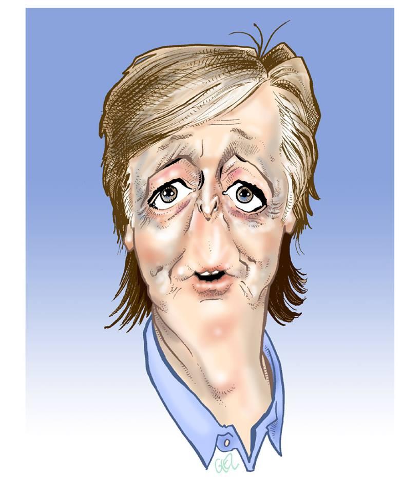 Caricature portrait de Paul McCartney