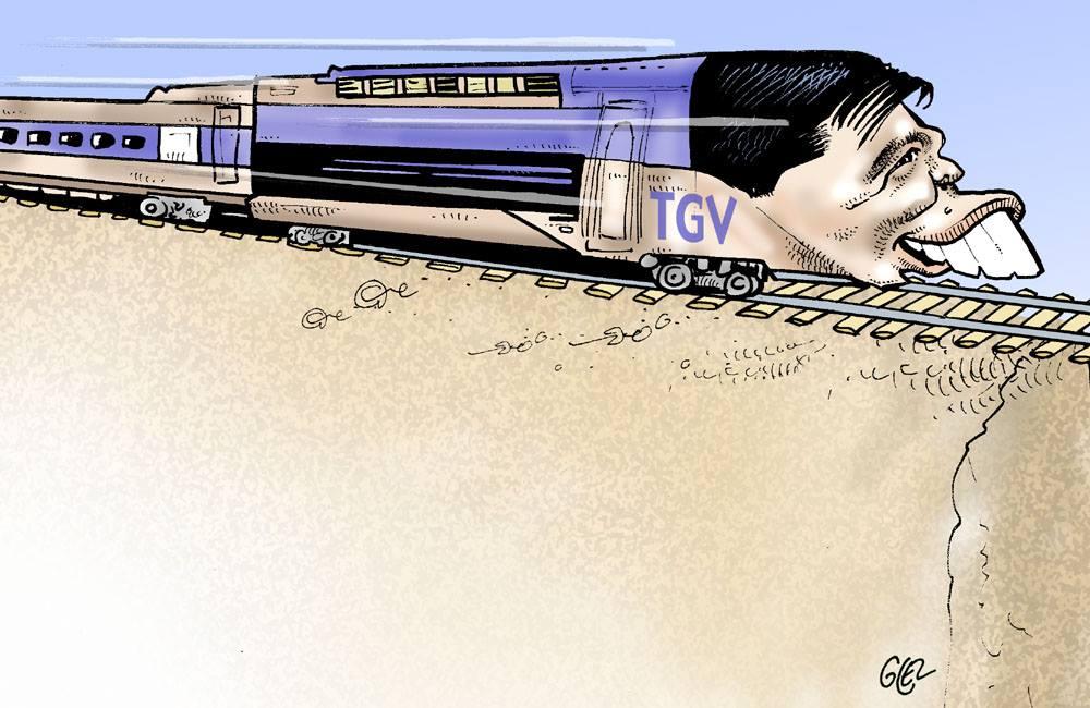 Caricature portrait d'Andry Rajoelina