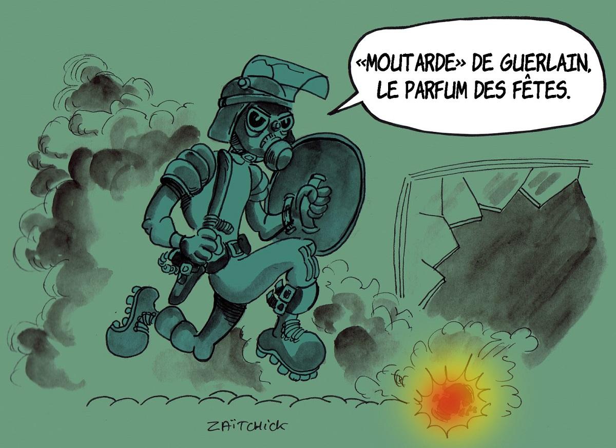 dessin d'actualité humoristique sur le gouvernement et le mouvement des gilets jaunes