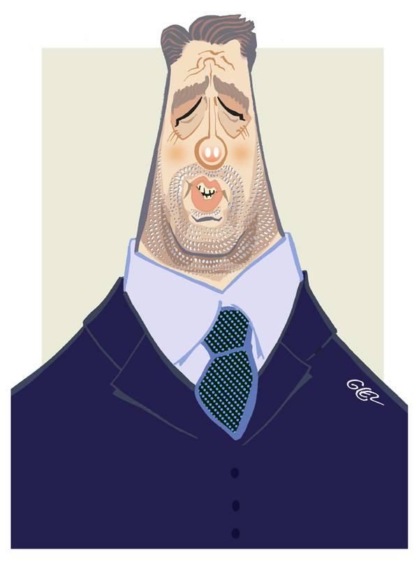 Caricature portrait de Christophe Castaner