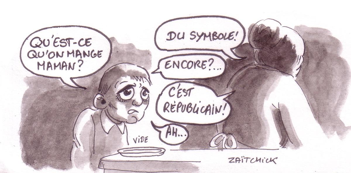 dessin d'actualité humoristique sur la disette de la gouvernance LREM