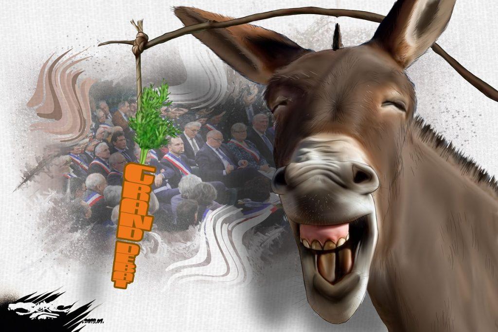 dessin d'actualité humoristique sur le grand débat national