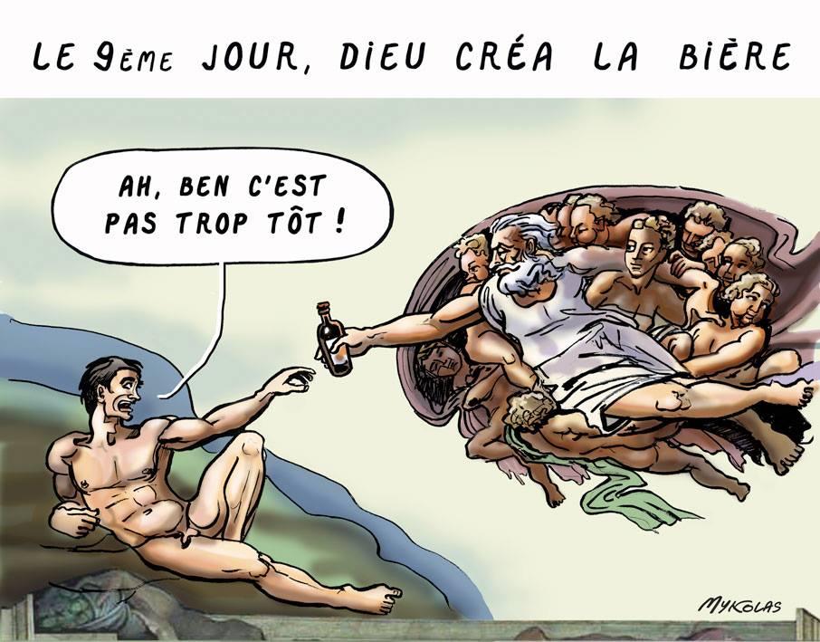 dessin d'actualité humoristique sur le création de la bière