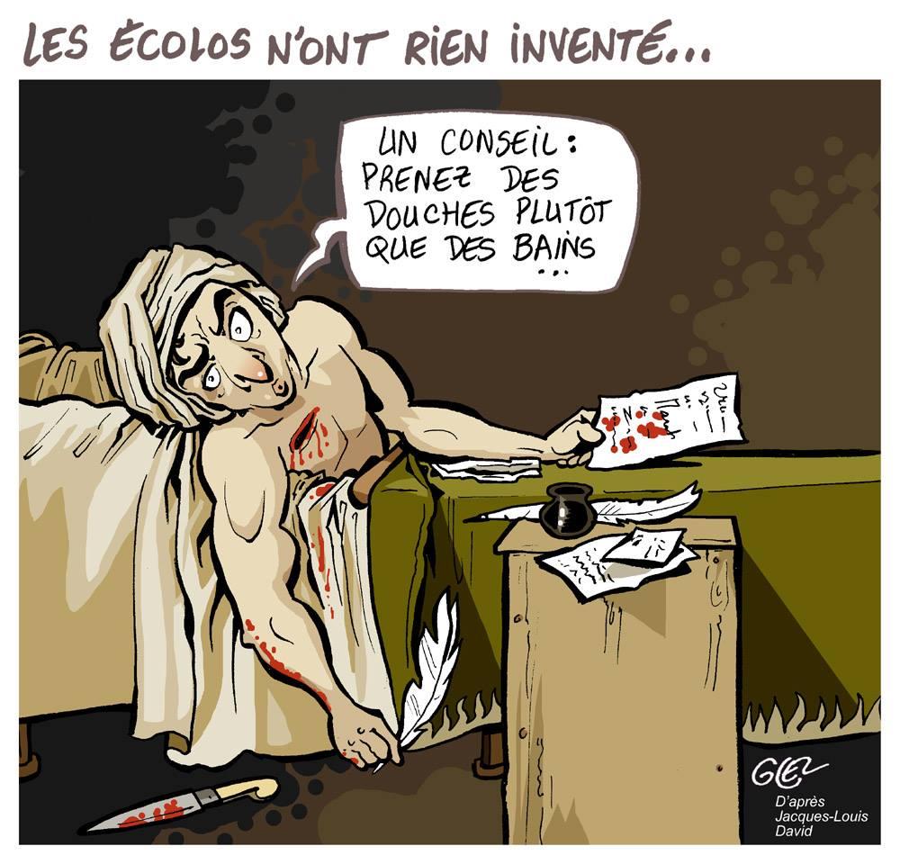 dessin d'actualité humoristique sur l'écologie