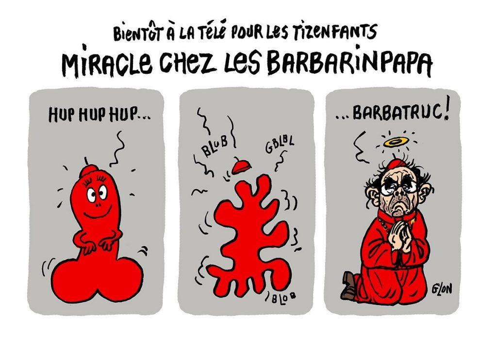 dessin d'actualité humoristique sur le procès du Cardinal Barbarin