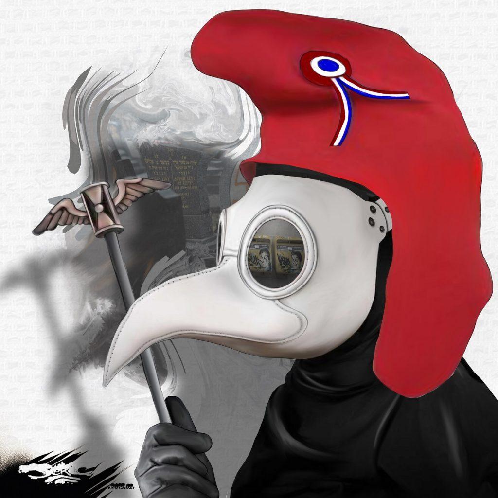 dessin d'actualité humoristique sur le retour de la peste brune