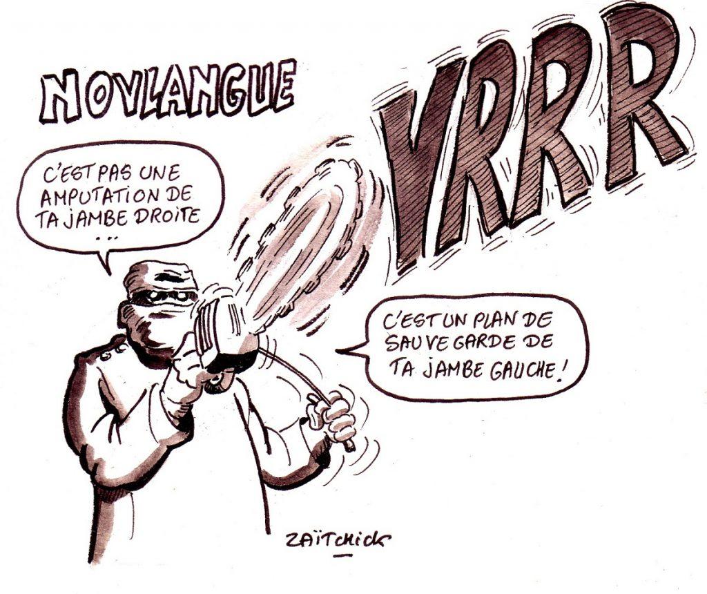 dessin d'actualité humoristique sur le plan de sauvegarde de l'emploi