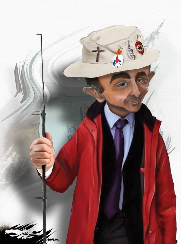 dessin d'actualité humoristique sur Éric Zemmour
