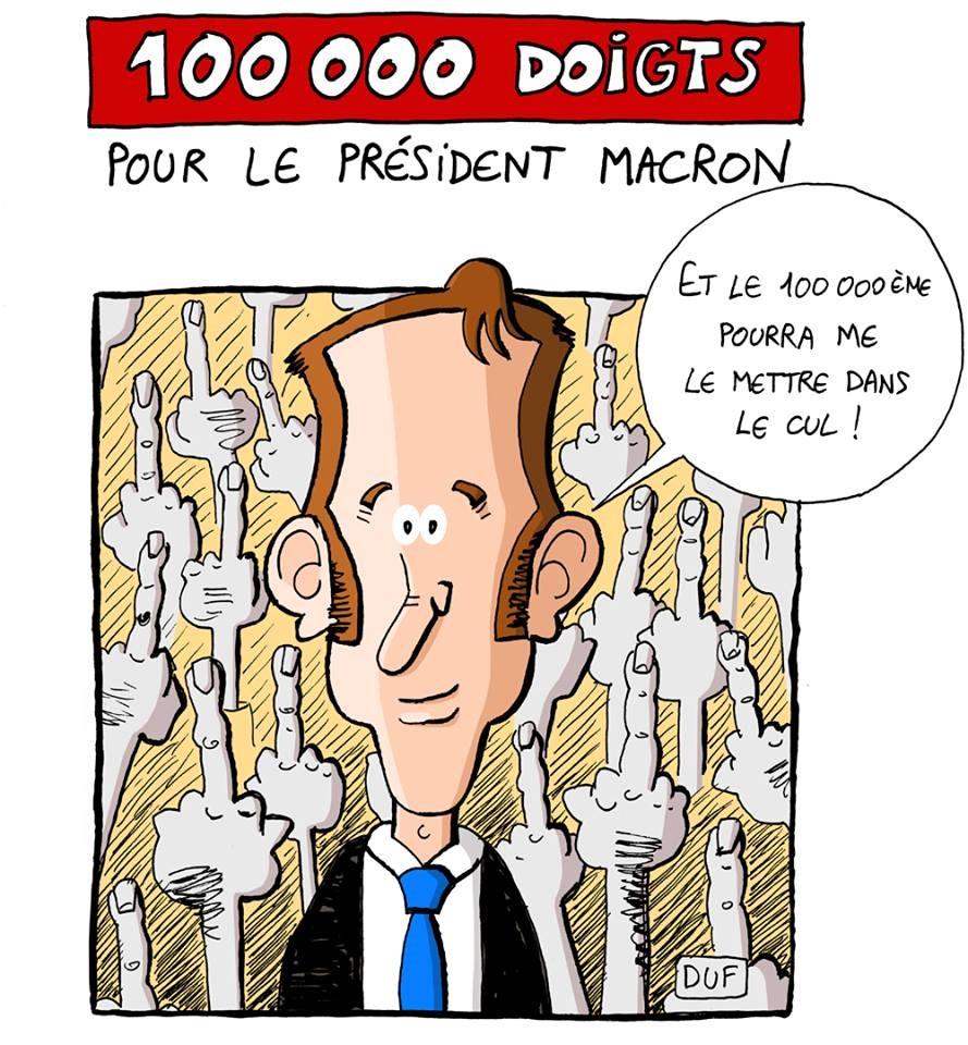 dessin d'actualité humoristique sur le selfie d'Emmanuel Macron à Saint-Martin