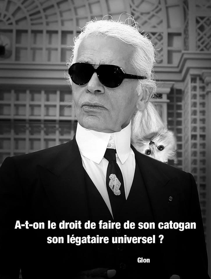 dessin d'actualité humoristique la chatte de Karl Lagerfeld qui hérite de sa fortune