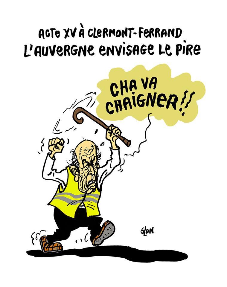 dessin d'actualité humoristique sur Valéry Giscard d'Estaing et les gilets jaunes