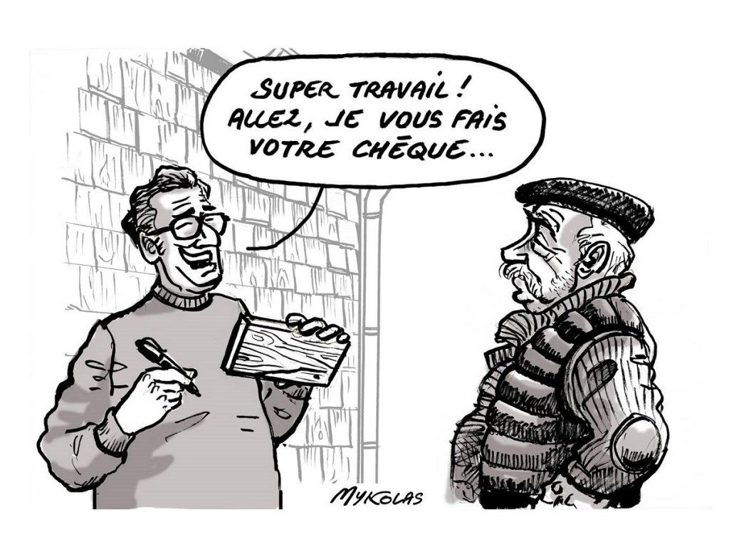 dessin d'actualité humoristique sur les tavaillons de l'Allier