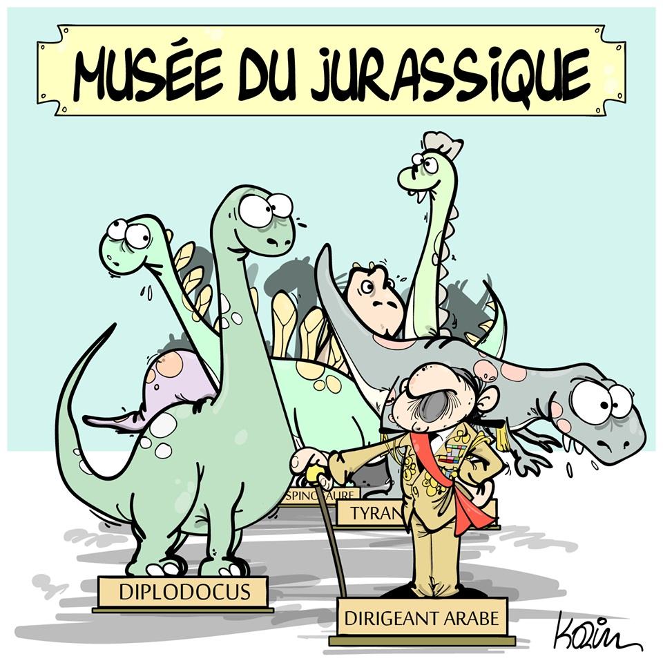 dessin d'actualité humoristique sur les dirigeants arabes
