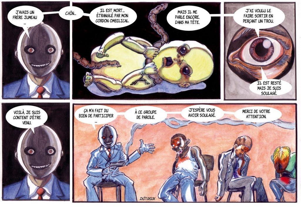 dessin de Zaïtchick sur la bande dessinée Abel