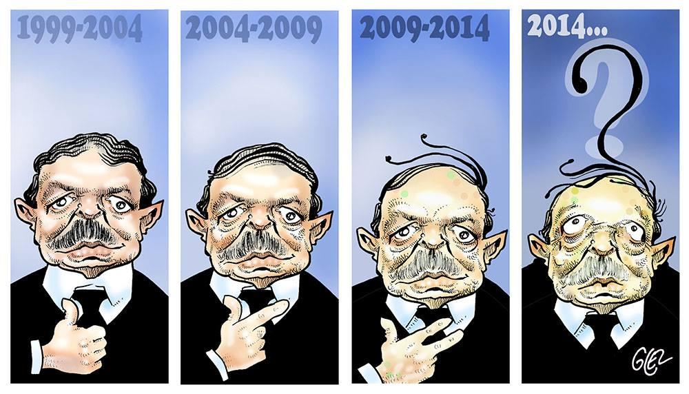 dessin d'actualité humoristique sur l'évolution politique d'Abdelaziz Bouteflika