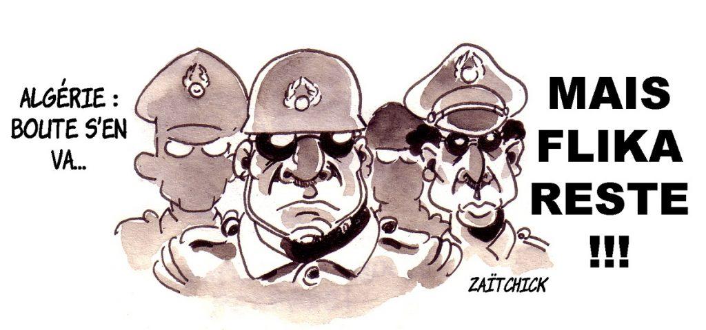 dessin d'actualité humoristique sur la volonté d'Abdelaziz Bouteflika de rester au pouvoir