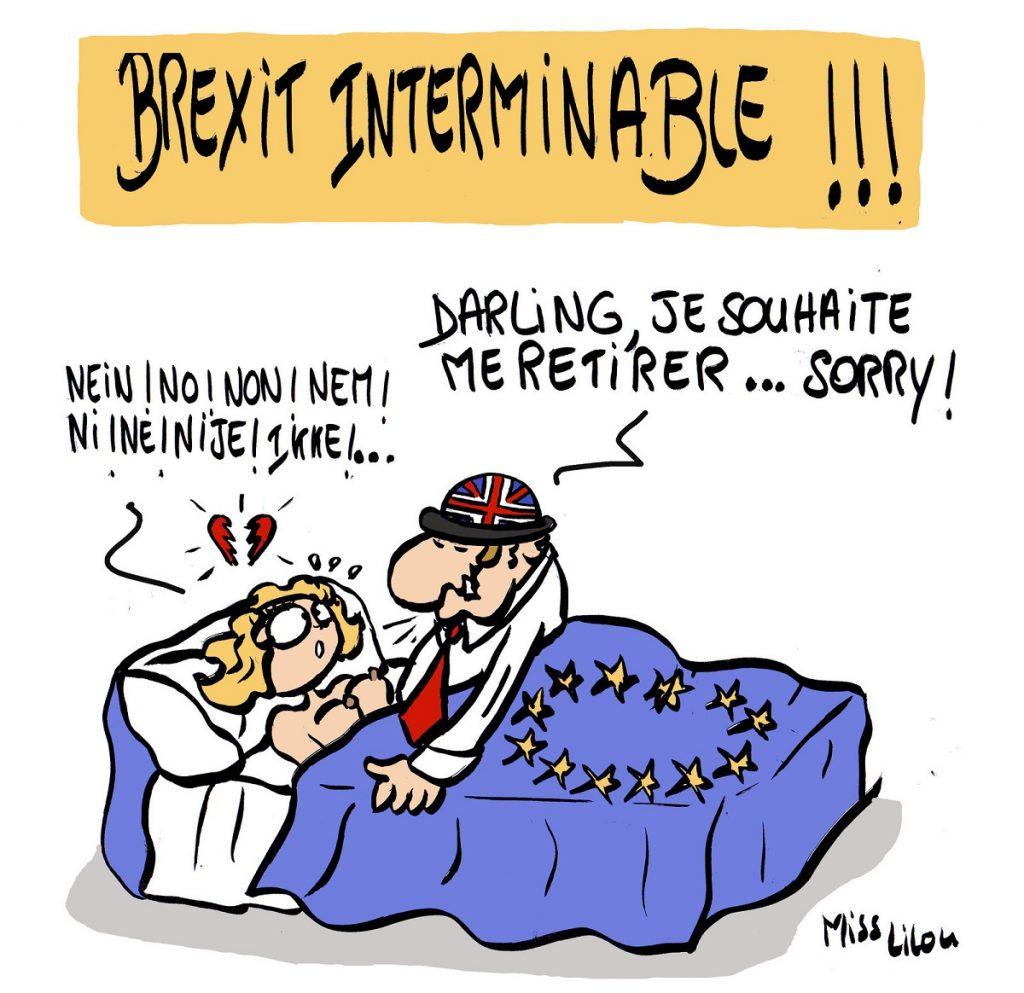 dessin d'actualité humoristique sur le Brexit