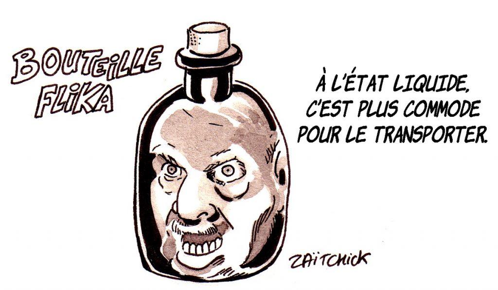 dessin d'actualité humoristique sur la candidature d'Abdelaziz Bouteflika aux présidentielles en Algérie
