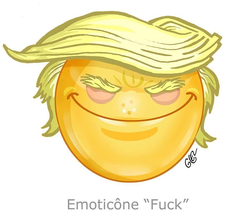 dessin de la nouvelle émoticône « fuck » par Glez