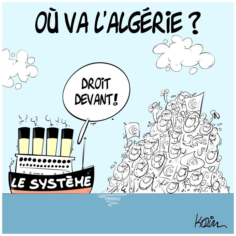 dessin d'actualité humoristique sur le pouvoir politique algérien