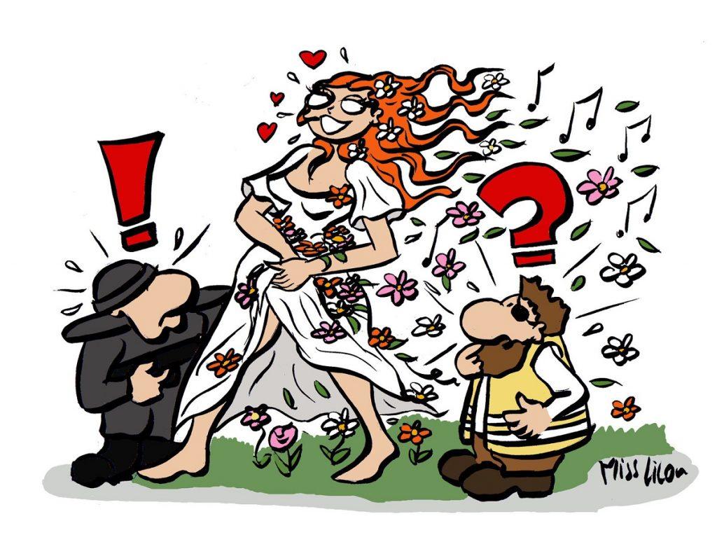 dessin d'actualité humoristique sur le printemps du mouvement des gilets jaunes