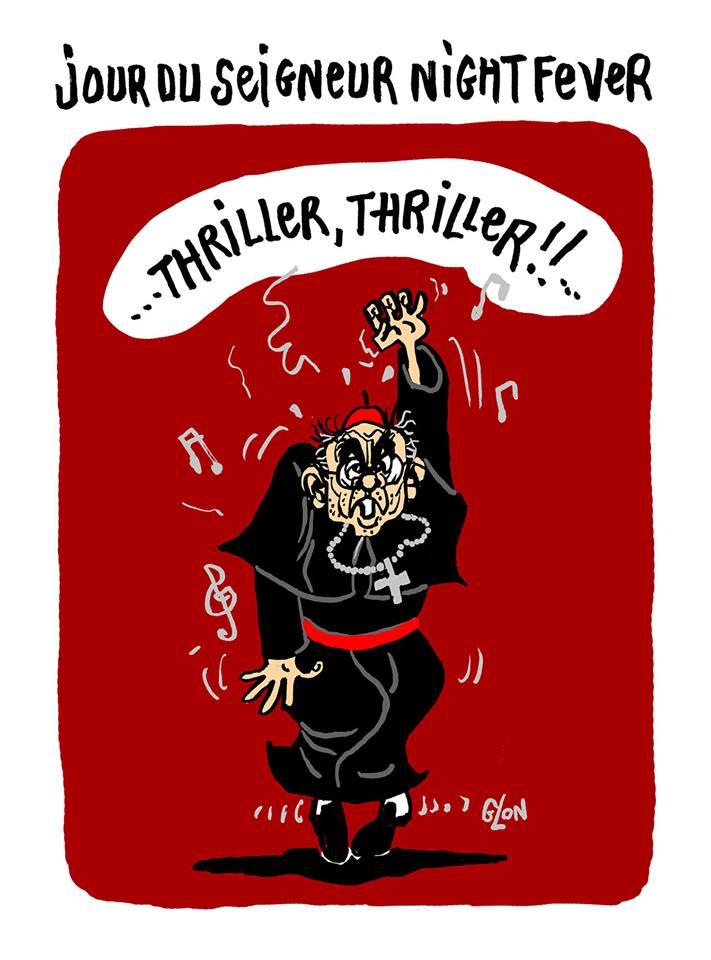 dessin d'actualité humoristique sur l'affaire Barbarin