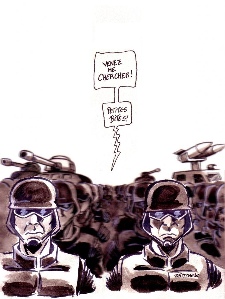 dessin d'actualité humoristique sur l'acte 19 des gilets jaunes et Emmanuel Macron