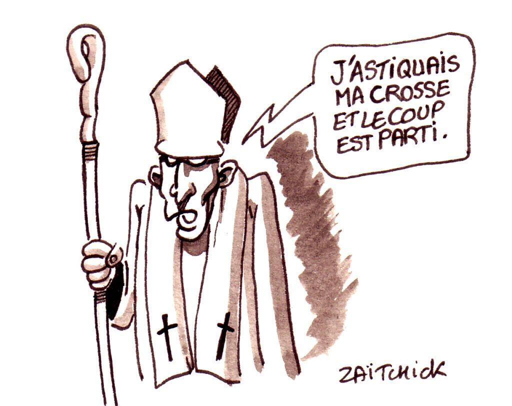 dessin d'actualité humoristique sur la pédophilie dans l'église catholique