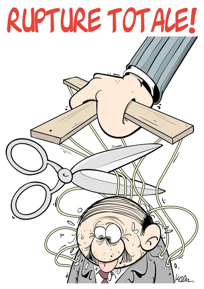 dessin d'actualité humoristique sur la Abdelaziz Bouteflika, marionnette du pouvoir algérien
