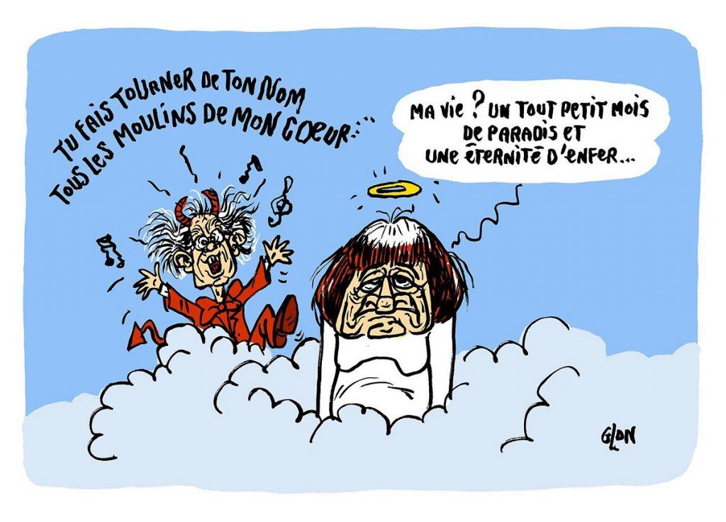 dessin d'actualité humoristique sur le décès d'Agnès Varda