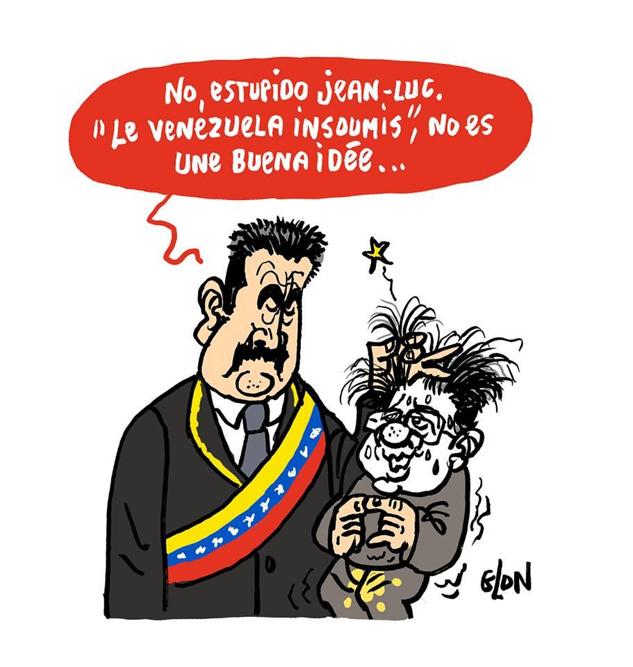 dessin de presse sur Nicolas Maduro et Jean-Luc Mélenchon