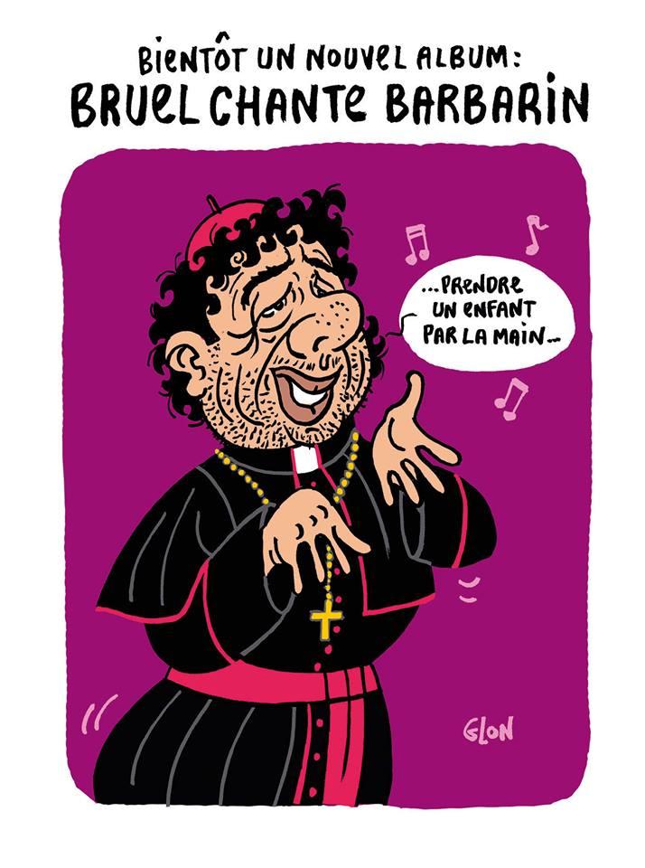 dessin d'actualité sur la condamnation du Cardinal Barbarin