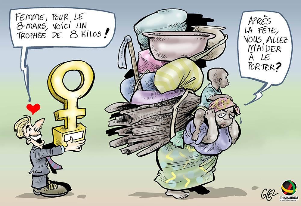 dessin d'actualité humoristique sur la journée internationale des droits des femmes