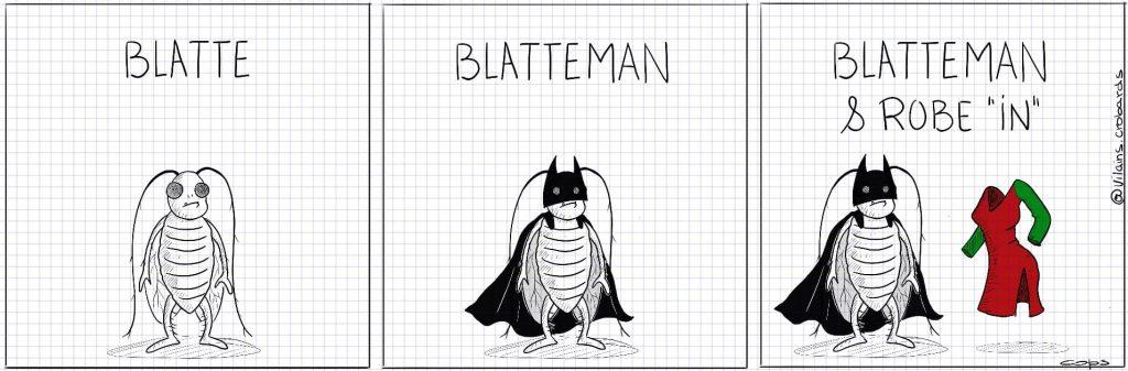"""dessin de Cops sur Blatteman et Robe """"in"""""""