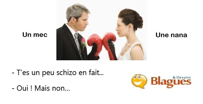 blague illustrée sur la vie de couple et la drague entre un mec et une nana